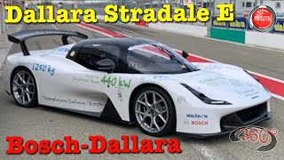 360° VIDEO 4K | Dallara Stradale E 600 HP 2.700 Nm | Track Test Varano | SEPT20