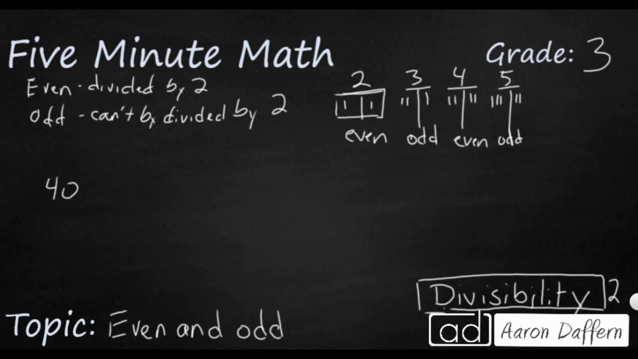 3rd Grade Math - Even and Odd