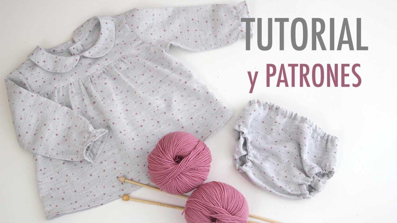 DIY Costura: Conjunto de niña blusa y braguita (patrones gratis ...