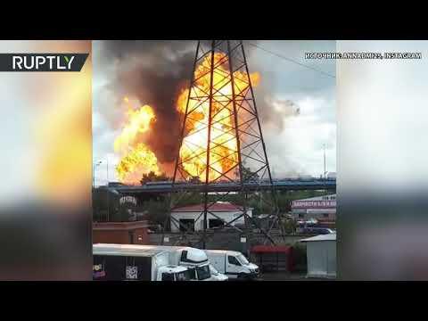 Северная ТЭЦ горит в подмосковных Мытищах