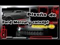 Ford Mercury concept. Cinema 4D+blueprints.
