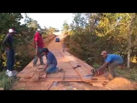 Recuperação da ponte na linha 20 estou sempre na luta junto com o povo