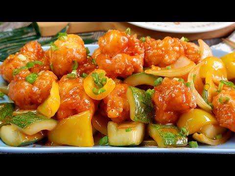 EASY & Yummy! Made with Basic Ingredients! Crispy Sweet & Sour Shrimp 酸甜虾球 Chinese Prawn Recipe