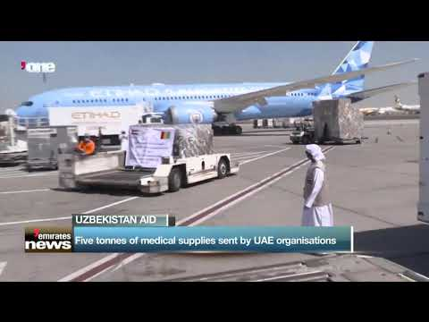 Five tonnes of medical supplies sent by UAE organizations