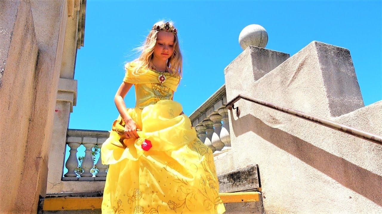 Полина как принцесса и волшебная лампа