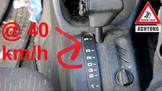 Beim Fahren in P schalten - Automatikgetriebe testen | Dumm Tüch