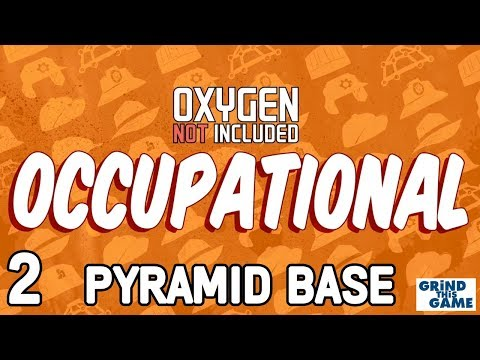 PYRAMID BASE #2 - Oxygen Not Included - Occupational Upgrade (JOBS, HATS & CONVEYOR RAILS)