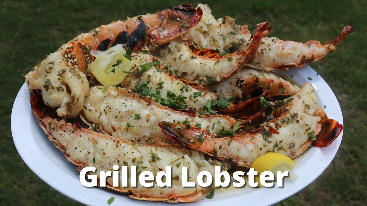 Grilled Lobster Tail | Recipe for Lobster on the Grill by Malcom Reed HowToBBQRIght - YouTube