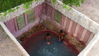 Build Underground Swimming Pool & Underground House Full Video