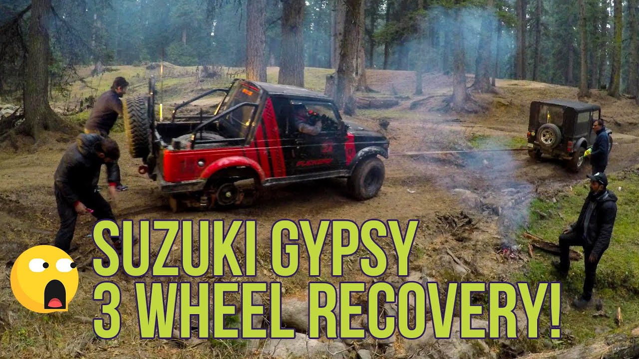Extreme Off-Road Recovery With Maruti Gypsy #shorts | Kashmir Off Road