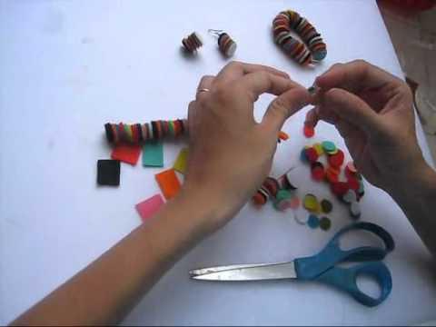Cách làm vòng tay bằng vải nỉ.wmv
