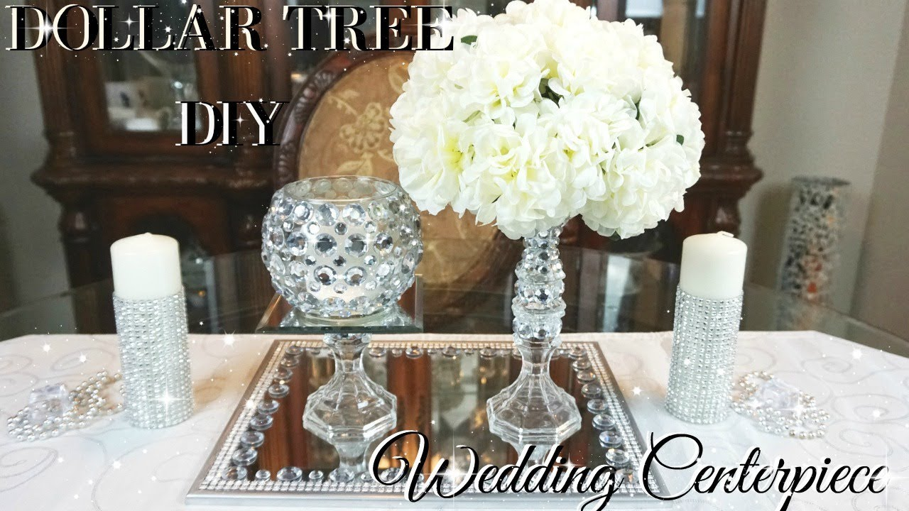 Diy Dollar Tree Wedding Centerpiece Diy Dollar Store Bling Wedding Decor Centerpiece Ideas