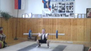 тяжёлая атлетика 60 кг толчок до 14лет