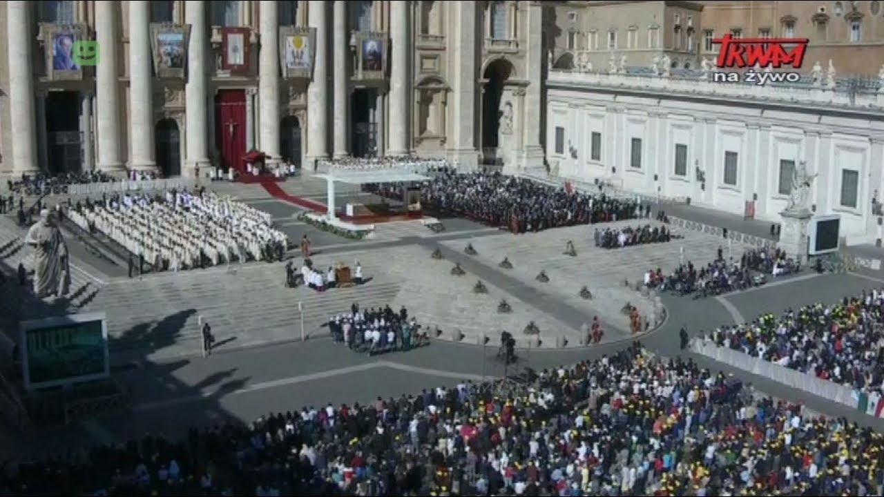 Msza Święta kanonizacyjna z Watykanu