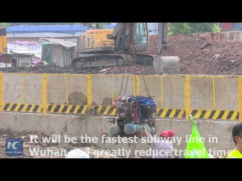 Fastest subway line in C China city dug through