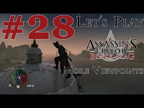 Let's Play Assassin's Creed IV: Black Flag (PS4) Part 28 More Viewpoints