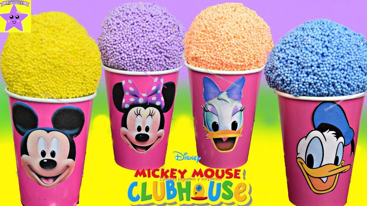 HELADOS PLAY FOAM Mickey mouse Minnie Daisy Donal Con ...