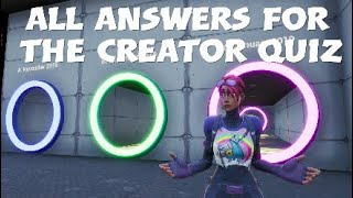 All Answers For The Creator Quiz [Tutorial] (Fortnite Creative)