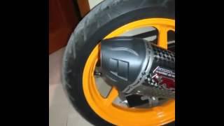 Suara Knalpot R9 Austin Titanium Carbon Honda CBR150R lokal
