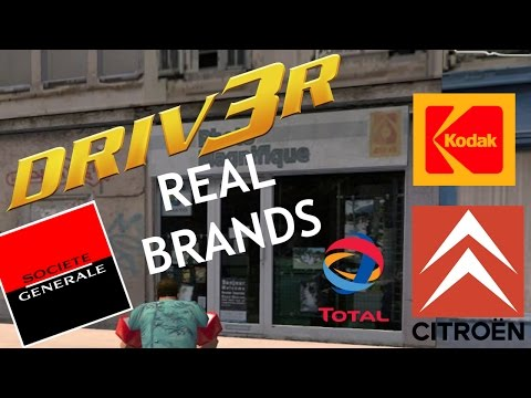 DRIV3R VS Reality : All the Real Hidden Brands in the Game ! (Kodak, Citroën, Total and more !)