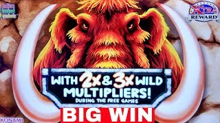 ★BIG WIN★ New KONAMI Slot Machine MAMMOTH POWER Bonus BIG WIN w/$7.50 Bet |Live Slot Play w/NG Slot