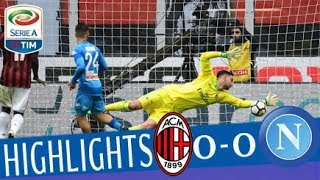 Milan - napoli 0-0 - highlights - matchday 32 - serie a tim 2017/18