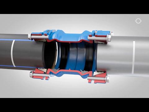 Соединение пластиковых труб без сварки муфтой UR-52 (www.g-v-k.ru)