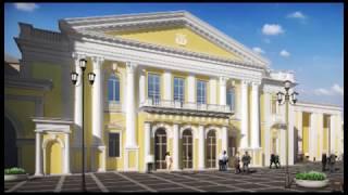 У великій залі Харківської філармонії вже фарбують стіни й укладають паркет