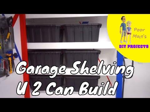 Poor Man's DIY: Garage Shelving You Too Can Build