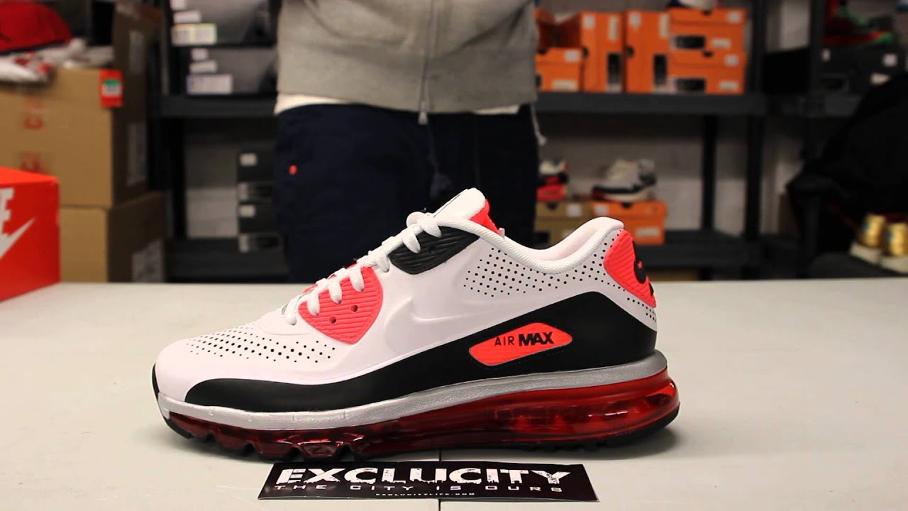 nike air max 90 2014 leather infrared light