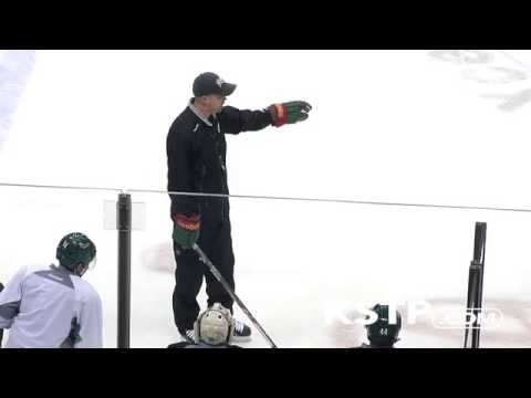 Mike Yeo ANGRY at Minnesota Wild Practice GOES NUTS