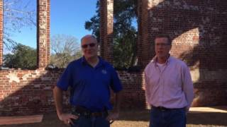 Work is underway at St Phillips Church in Brunswick Town to restore parts of the structure.