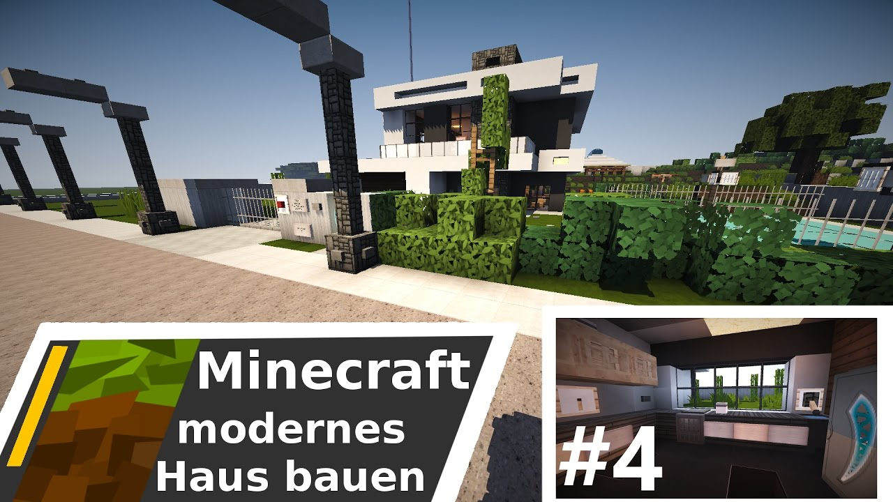 minecraft modernes haus villa bauen time lapse part 4 garten k che youtube. Black Bedroom Furniture Sets. Home Design Ideas