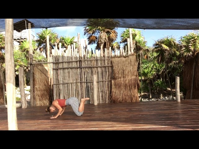 Simple morning yoga flow at Papaya Playa Project Tulum