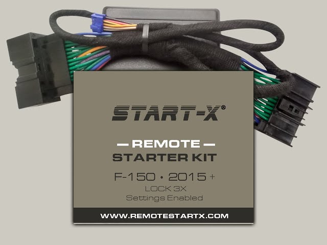 Start-X F-150 Settings Enabled Remote Starter Kit Installation Video LOCK 3X