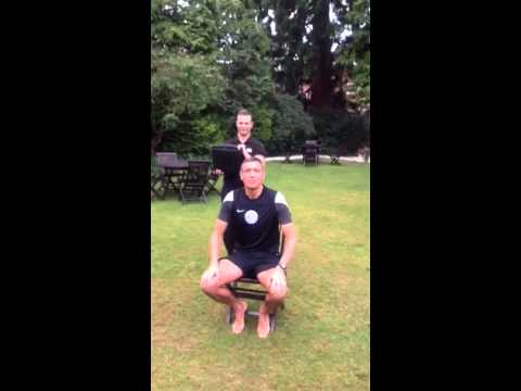 Referee Andre Marriner does the Ice bucket challenge