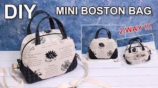DIY 2way Boston Bag | 투웨이 보스턴백 | Free sewing pattern 가방만들기 Cómo hacer bolsa 手提包バッグ作り方 [sewingtimes]