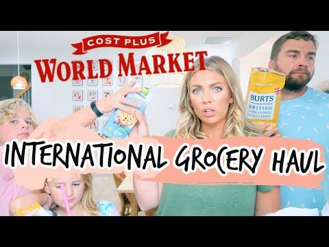 WORLD MARKET GROCERY HAUL & Family Taste Test