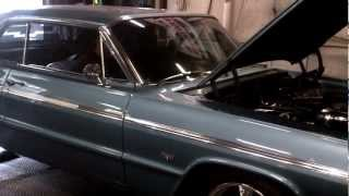 64 Impala SS with Corvette LS3 engine dyno pull
