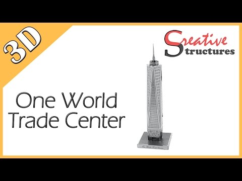 3D metal model & puzzle - One World Trade Center (United States Architecture)