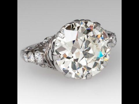 Old European Cut Diamond –Antique 6 Carat Diamond Ring
