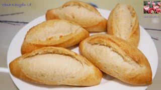BÁNH MÌ VIỆT NAM - Bánh Mì KHÔNG Phụ gia làm với Bột Mì đa dụng by Vanh Khuyen