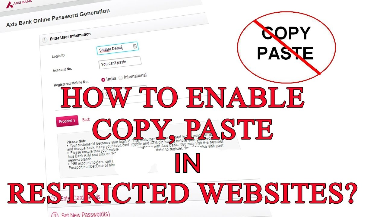 One Method to Crack Websites Prohibiting Copy and Paste