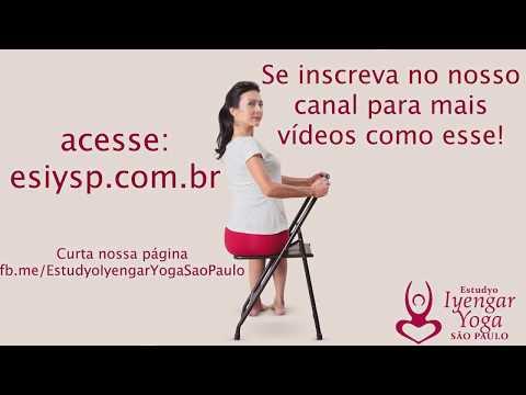 Baradvajasana na cadeira com Analu Matsubara - Estudyo Iyengar Yoga São Paulo