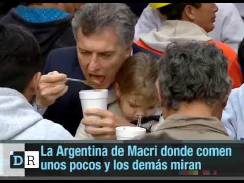 La argentina de Macri donde comen unos pocos y los demás miran