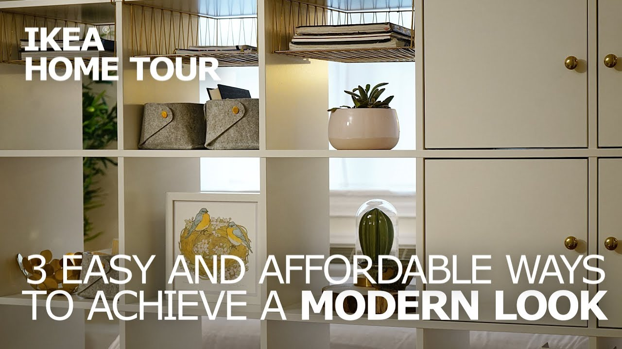 3 Modern Decorating Ideas For Your Studio Apartment   IKEA Home Tour