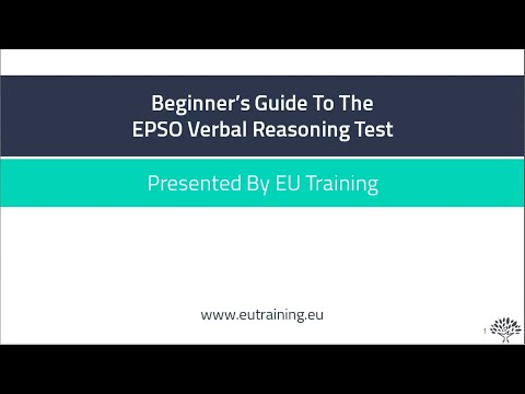 Beginner's Guide To The EPSO Verbal Reasoning Test