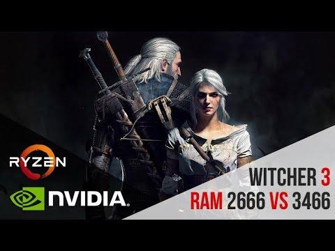 Ryzen 1700  The Witcher 3: Wild Hunt  NOVIGRAD CITY RAM 2666 vs 3466