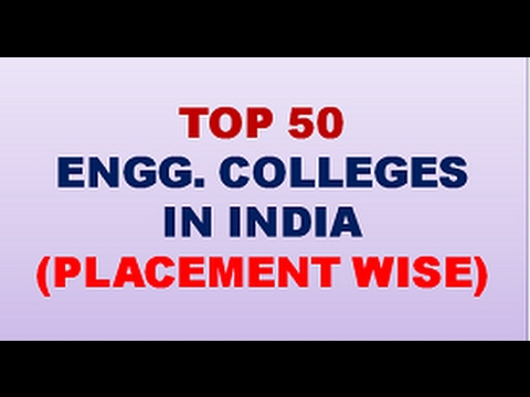 TOP 50 ENGG  COLLEGES IN INDIA