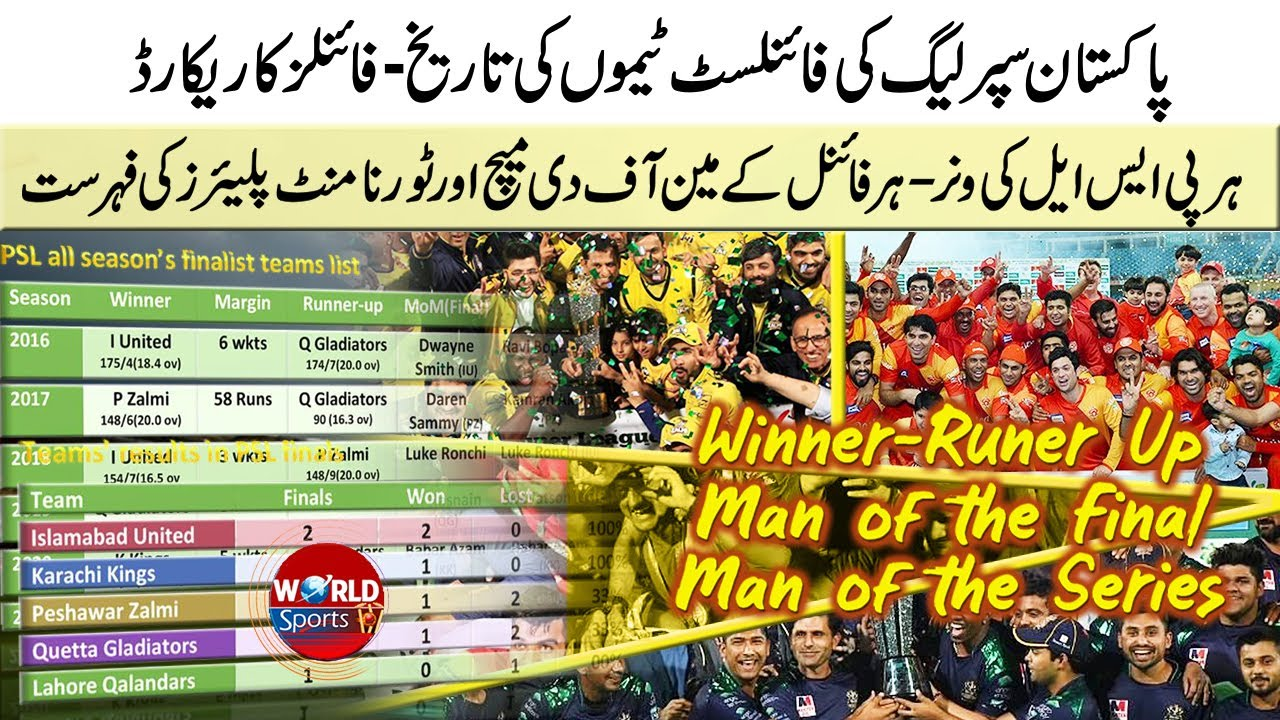 PSL winner list | Multan Sultans vs Peshawar Zalmi PSL 6 final | Teams that played most PSL finals